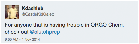 Tweet about Clutch from Kdashlub
